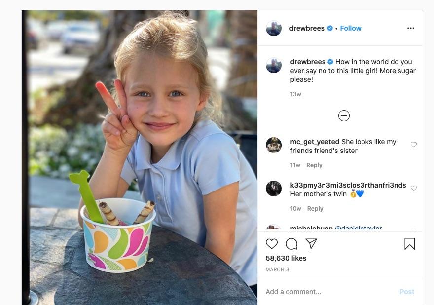 Drew Brees  Daughter Rylen