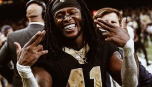 Alvin Kamara, the NFL player you probably recognize as a running back currently playing for the New Orleans Saints, is single?